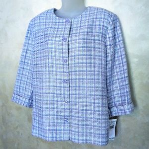 Alfred Dunner Light Jacket NWT 14